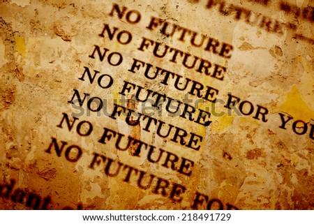 No future - stock photo