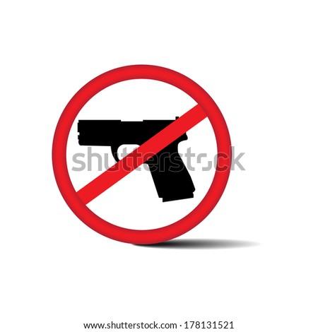 No guns allowed sign - jpg. - stock photo