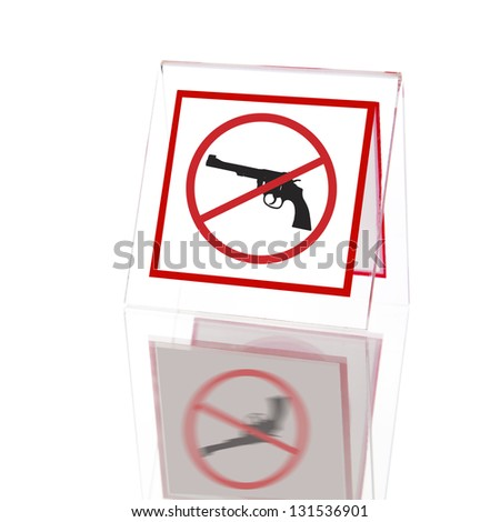 No guns sign - stock photo