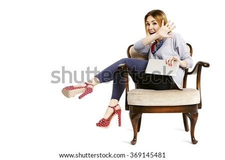 No, I will not show you this email. Isolated on white background.  - stock photo