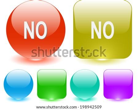 No. Interface element. Raster illustration. - stock photo