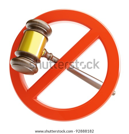 no law on a white background - stock photo
