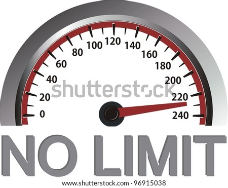 no limit - stock photo