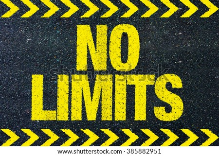 No limits word on road - stock photo