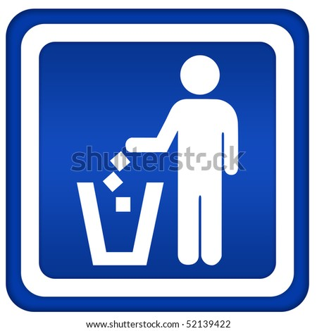 No littering - stock photo