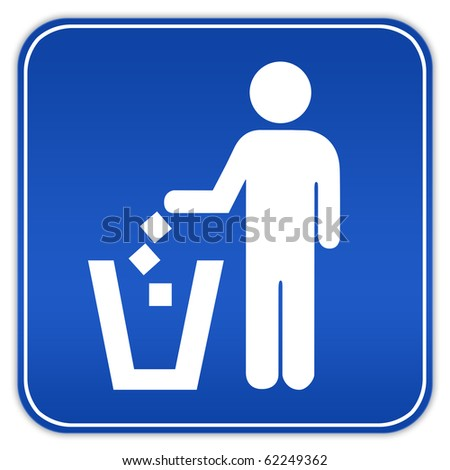 No littering sign - stock photo