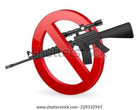 no M16 sign illustration. - stock photo