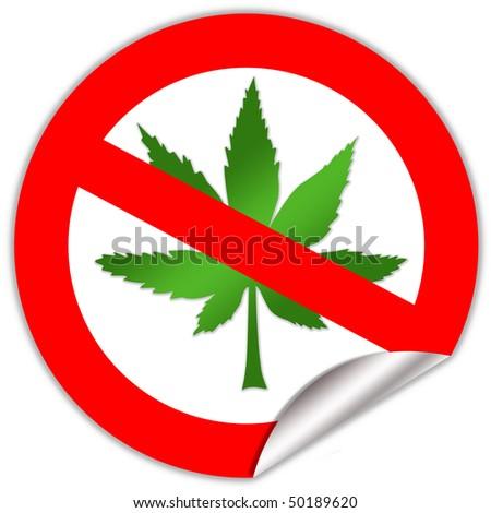 No marijuana sign - stock photo