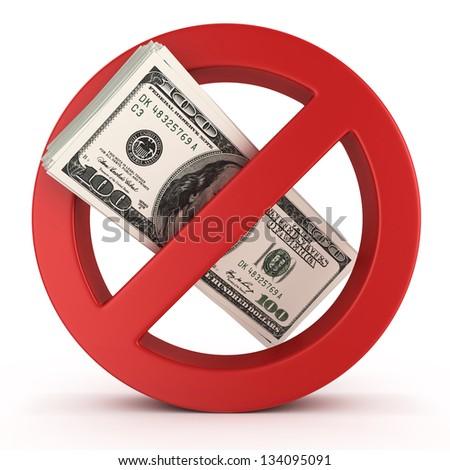 no money concept illustration over white background - stock photo