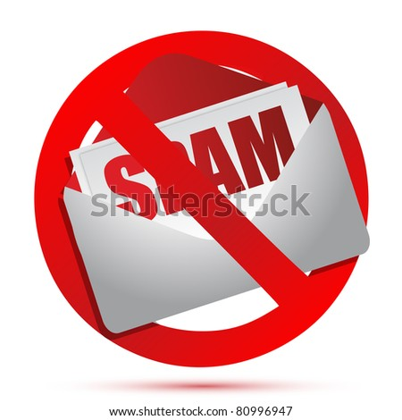 No more spam concept illustration design over white - stock photo