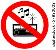 No music sign - stock photo