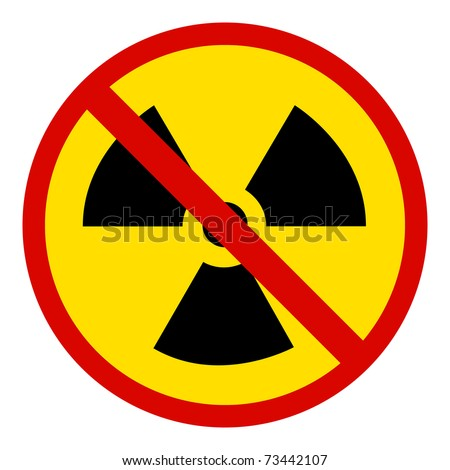 no Nuclear Symbol - stock photo