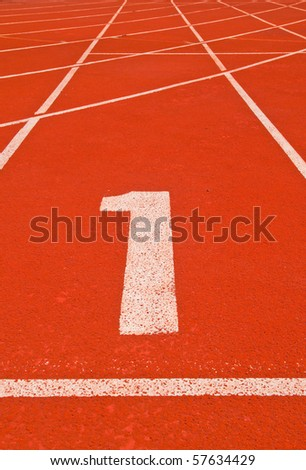 no. 1 on the track - stock photo