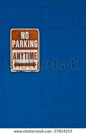 no parking - stock photo