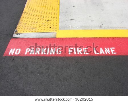 No Parking Curb - stock photo