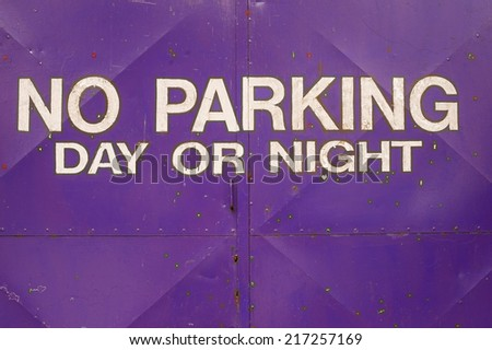 no parking day or night sign - stock photo