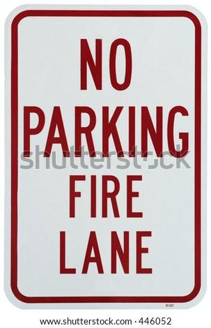 No Parking Fire Lane - stock photo