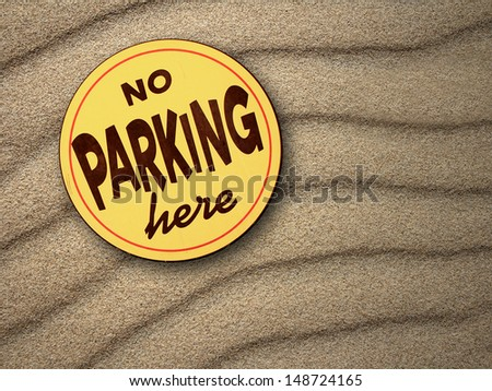 No parking here - stock photo