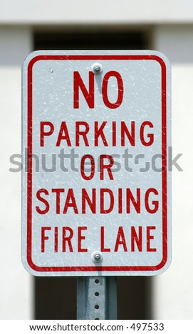 No Parking or Standing Sign - stock photo