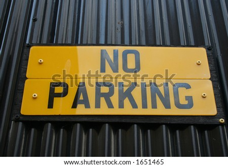 No parking sign on license plates - stock photo