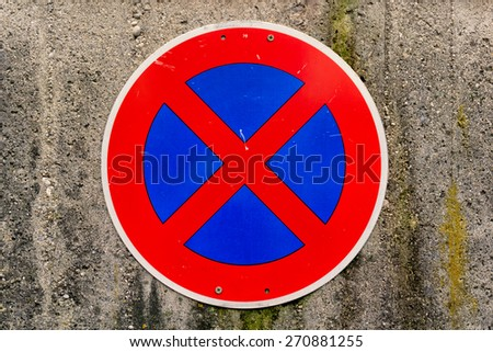 no parking traffic sign  - stock photo