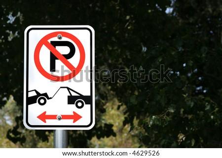 No Parking Zone - stock photo