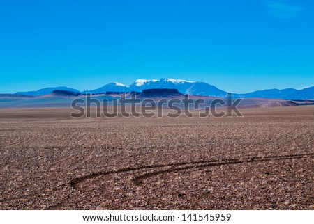 No people just an amazing place in Andes - stock photo