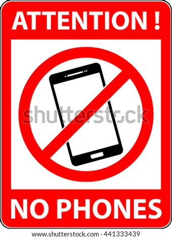 No phone, telephone, cellphone and smartphone prohibited symbol. Sign indicating the prohibition or rule. Warning and forbidden. Flat design. Illustration. Raster copy of vector file