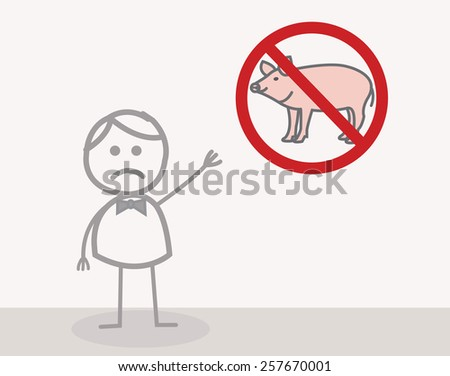 No Pork - stock photo
