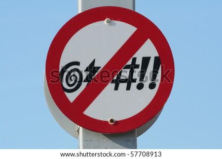 No Profanity Sign - stock photo