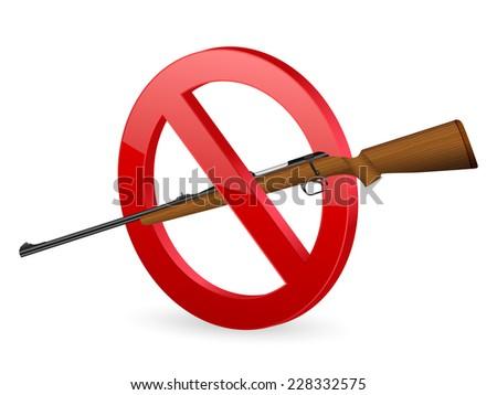 no rifle sign illustration. - stock photo