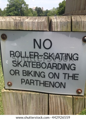 No roller-skating on the Parthenon!