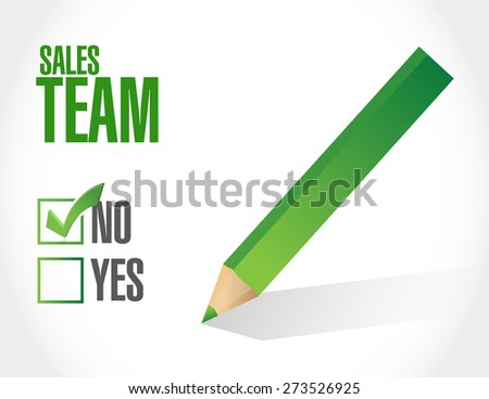 no sales team approval sign concept illustration design over white - stock photo