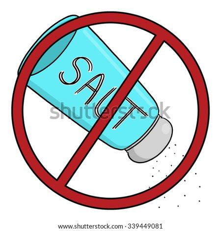 No salt illustration - stock photo