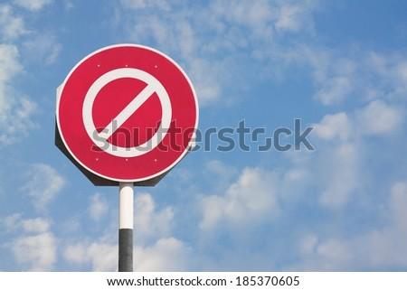 No Sign - stock photo