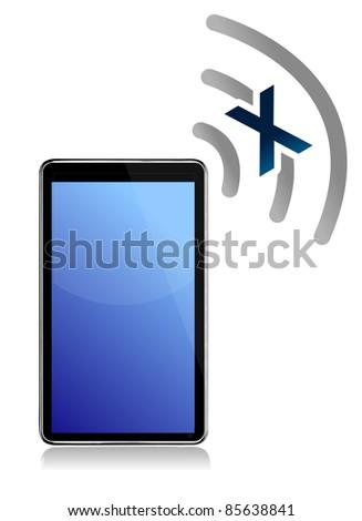 No signal on tablet illustration design - stock photo