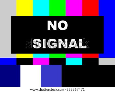 No Signal SMPTE color bars television test pattern  - stock photo