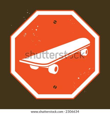 no skateboarding - stock photo