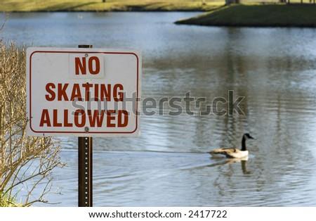 no skating sign - stock photo