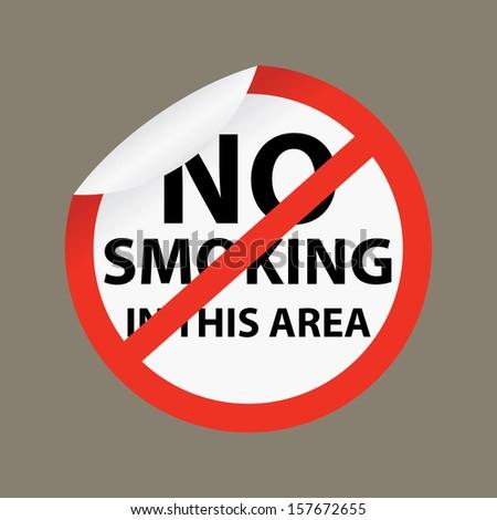 No smoking and Smoking in this area - jpg format. - stock photo