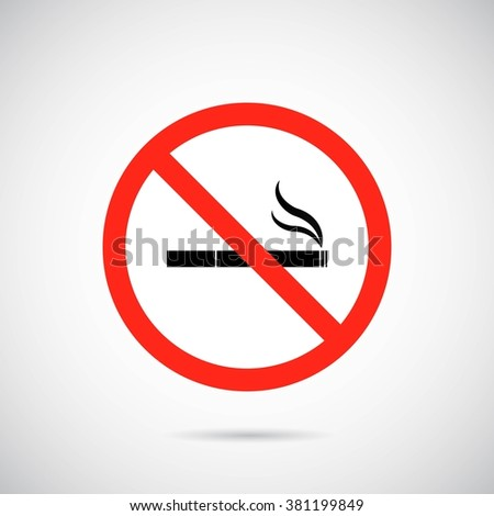 No smoking area banner on gray background.