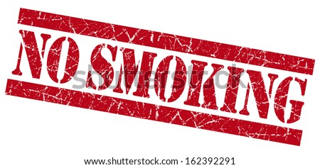 No smoking grunge red stamp - stock photo