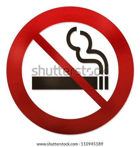 No smoking grunge texture sign on white - stock photo