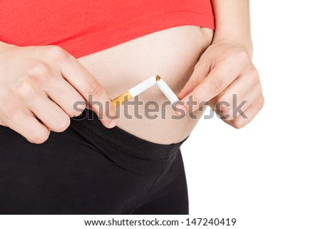 No smoking in pregnancy - stock photo