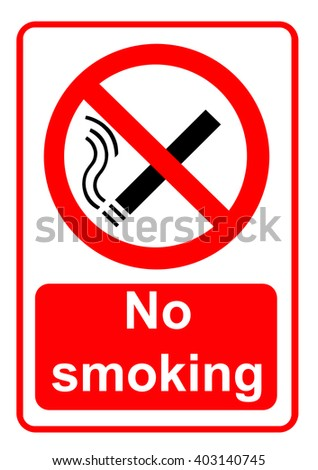 No smoking sign - stock photo
