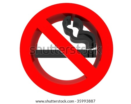 no smoking sign 3d