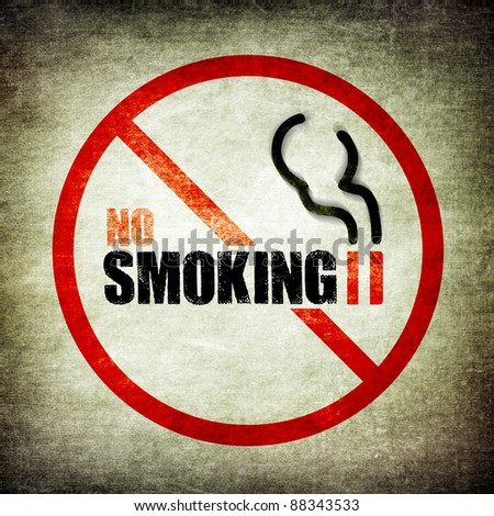No smoking sign grunge style - stock photo