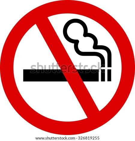 No Smoking Sign on the isolated background