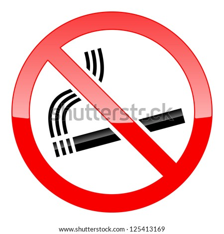 No Smoking Sign on white background. Raster version - stock photo