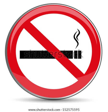 No Smoking Sign, raster image - stock photo